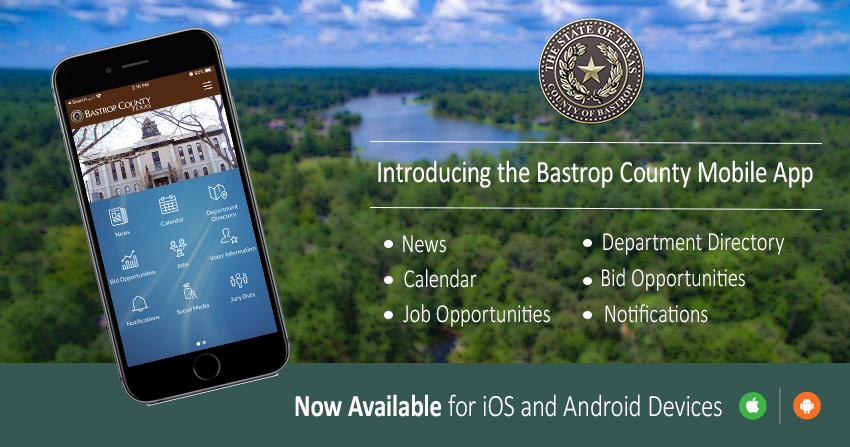 Bastrop County Mobile App Announcement